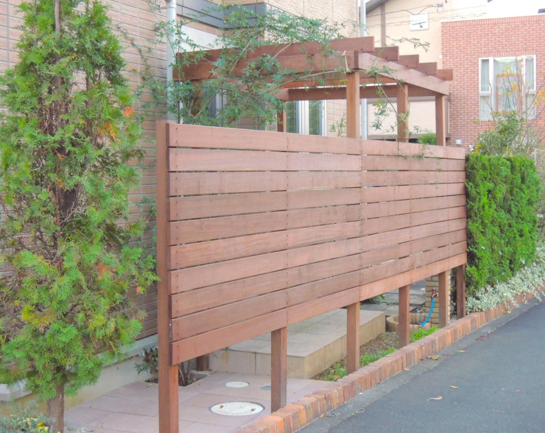 ハードウッド製目隠しフェンス(八王子市 M様邸)