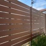 木目調樹脂製フェンス(町田市 T様邸)